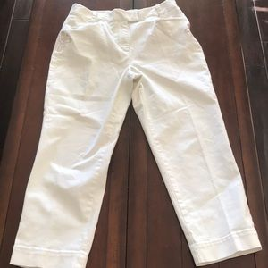 Talbots stretch crop pants